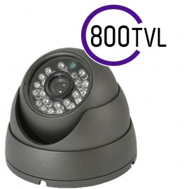 800 TVL CCTV DOME CAMERA 20M IR 3.6MM FIXED LENS