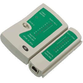 RJ11 & RJ45 CABLE TESTER FOR CAT5, 5E & 6 NETWORK CABLE