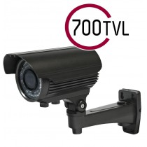 700 TVL SONY EFFIO CCTV BULLET CAMERA 2.8-12MM VARIFOCAL LENS 40M IR OSD
