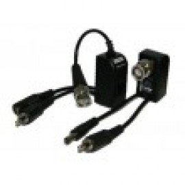 PAIR OF CAT5 VIDEO AUDIO & POWER BALUN PAIR INCLUDES TRANSMITTER & RECEIVER