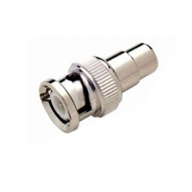 BNC MALE TO RCA PHONO FEMALE CONNECTOR FOR CCTV CABLE